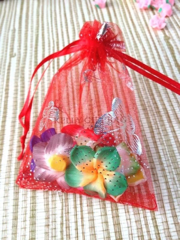 Упаковочные пакеты 50 9 * 12 Organza Gift Bags 048
