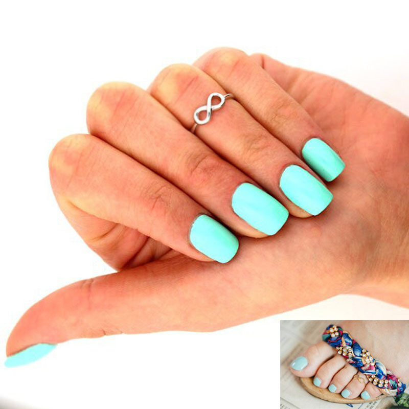 4pcs Women Girl Gothic Boho Nice Sweet Silve Gold Infinity Toe Ring Knuckle Ring