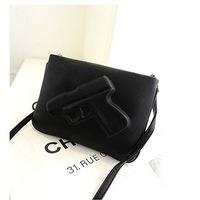Unique personality 3D Sunday Bag Pistol model female bag big Women Messenger shoulder Bags school bags colcci high quality