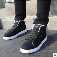 2014 new winter men's cotton-padded shoes flats causal shoes fashion men's snow boots Martin boots high help free shipping 583