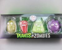 10sets/lot Plants vs Zombies Anime Action Figure 7-10cm 4pcs/set PVZ Collection Figures Toys