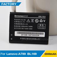 New BL169 2000mAh Battery For Lenovo P70 A789 S560 P800 BL-169