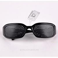 2014 Fashion Unisex Black Pinhole Glasses Vision Adjustment Health Care Eyewear Eyeglasses XMHM107