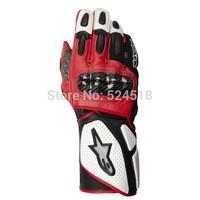 2014 FREE SHIPIPNG BRAND NEW Alpine/stars SP 2  Gloves Original MEN'S Genuine Leather gloves Driving Gloves Motorcycle Gloves