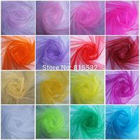 1pcs Lot Wholesale 110M x 75CM Crystal Sheer Organza Fabric Yarn Bride New Wedding Room Decor Party Decoration Craft Tulle Roll