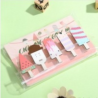 Kawaii Stationery  60 pcs/1lot  Mini Natural Painted Watermelon Wood Clip Set / Cute Wooden Paper Clips / Small Craft Photo Pegs