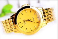 Hot Fashion Golden Stainless Steel Strap men Sports Watches Design Watch dress watches Free Shipping