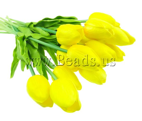 Free shipping!!!Artificial Flower Home Decoration,Cheap Jewelry, PU, yellow, nickel, lead & cadmium free, 330x30mm, 17PCs/Lot(China (Mainland))