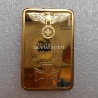 Wholesale 1 Oz Deutsche Reichsbank Gold Bullion Bar /Gold Ingot (Iron +gold plated)
