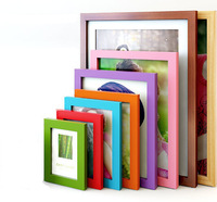 Solid Wood Frame Swing Sets 10inch Photo Prame Child Multi-color Picture Wall Frame Box