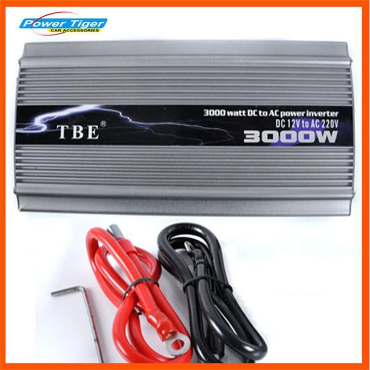 Инверторы и Преобразователи Power Tiger 3000W 12V 220 3000w Power Inverter 3000w dc 12v to ac110v 60hz pure sine wave power inverter 3000w high frequency converter single phase peak 6000w