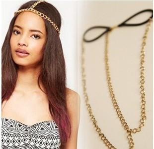 Free shipping,New Fashion hair accessories hair jewelry Bohemia metal chain Hairbands F192(China (Mainland))