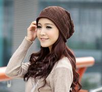 yang zi-237  Triangular diamond lattice hat female qiu dong han edition wool turtleneck cap  Free Shipping