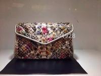 2014 mini python leather 17cm  original leather bag  new fashion  wholesale and retail brand  women design handbag