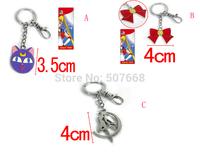 High Quality 200pcs/lot Anime Cartton Sailor Moon Key Chian Keychains Metal Figure Toy Key Ring Pendants