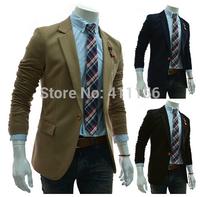 2014 hot sale men suit Classic design simple knitting small stand collar suit fashion leisure men Jacket Suit XF14