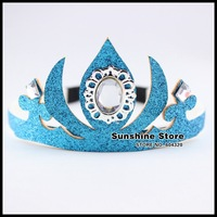 Sunshine store #8z078 20pcs/lot  (2colors) Hot Frozen Elsa Crown Girls Hair Accessories Imperial Crown Children Cosplay Headband
