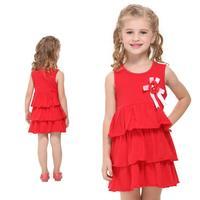 2014 New fashion Nova kids wearchildren printed beautiful butterfly spring summer baby girl cotton dress  DZQ001
