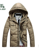 2014 men's new thicken slim regular hooded down coat,warm down jacket,winter and snow wear,free shipping