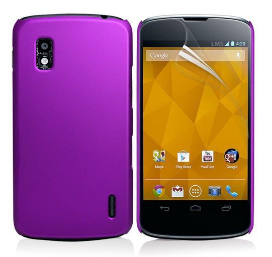 [YunJia]Hybrid Hard Back Cover For LG Google Nexus 4 E960 Matte Case Skin 10Pcs(China (Mainland))