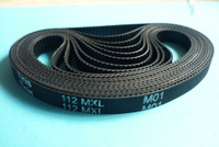 89MXL/ B112MXL 8mm Width Black Synchronous Timing Belt for EDM Drilling Machine Parts