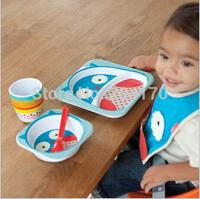 U.S.  Animal Story Imitation Ceramic Tableware Infant Feeding Dishes Baby  Cutlery Bowls Suit.