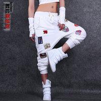 Fashion thin female loose harem pants hiphop hip-hop pants ds costume