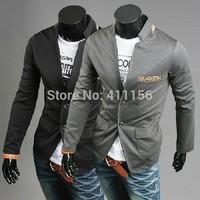 Hot 2014 New Design Mens Brand Blazer Jacket Coats,Casual Slim Fit Stylish Blazers For Men,Plus Size M~XXL