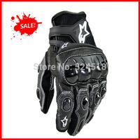 2014 FREE SHIPIPNG BRAND NEW Alpine/stars Original MEN'S Carbon fiber Genuine  Leather gloves Driving Gloves Motorcycle Gloves