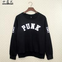 XPX PUNK Pak-ho Autumn Men's long-sleeved sweater coat on the Tide brand clothes plus velvet jacket hip-hop BBOY LW8027
