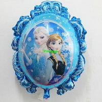 10pcs/lot  70*59cm frozen party supplise Helium frozen balloon for party decoration mirror princess festival supplies