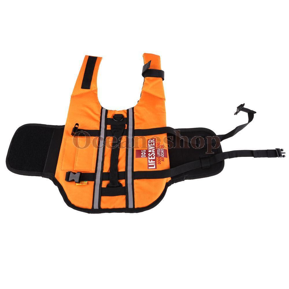Pet Dog Float Life Vest Dog Life Jacket Dog Swimming Protecting Belt Life Vest Aquatic Safety Boating Size S M L BHU2(China (Mainland))