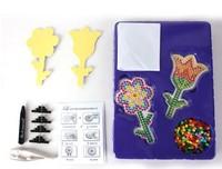5set flower pattern super natural game beads with pegboard hama beads perler beads  DIY educational toy 100% enviromental