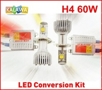H4 8000LM high low beam 60W 4th Generation USA CREE LED Headlamp Coversion Kit replacement Xenon Halogen Freeshipping GGG