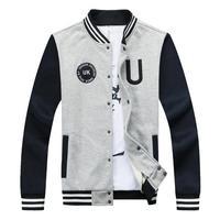 College Wind Man Casual Sweatershirts Baseball Bomber Jacket Size M-2XL New Designer Men Fashion Hoodies Spring / Autumn Coats
