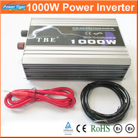 Auto Car Power Inverter Converter 1000W 1KW Pure Sine Wave Inverter DC TO AC 12V 220V With USB  for Notebook Laptop Adapter