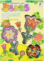 10set flower pattern super natural game beads with pegboard hama beads perler beads  DIY educational toy 100% enviromental