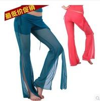 Hot sale 2014 Belly dance costume  pants new acrobatics of gauze pants split skirt K72