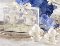 Fleur-de-Lis Salt and Pepper Shakers 80SET/LOT Wedding  favors and gifts Free Shipping
