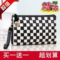 Clutch day clutch female 2014 wrist length bag women's plaid evening bag handbags one shoulder small bags