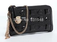 free shipping 2014 fashion  style Genuine leather shining stone  Evening Bag women party handbag NO B166