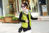 new 2014 Autumn and winter plus size cotton vest Women fashion waistcoat with a hood women winter cotton ladies vest