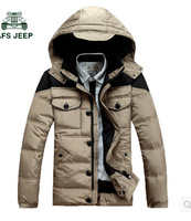2014 men's new hooded down coat,warm snow and winter wear down jacket,white duck down ,free shipping