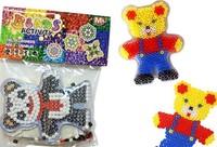 30bags boys girls pattern super natural game beads with pegboard hama beads perler beads  DIY educational toy 100% enviromental