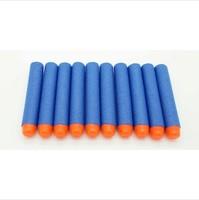100pcs 7.2cm Blue Foam Darts for Nerf N-strike Elite Series Blasters Toy gun Free shipping