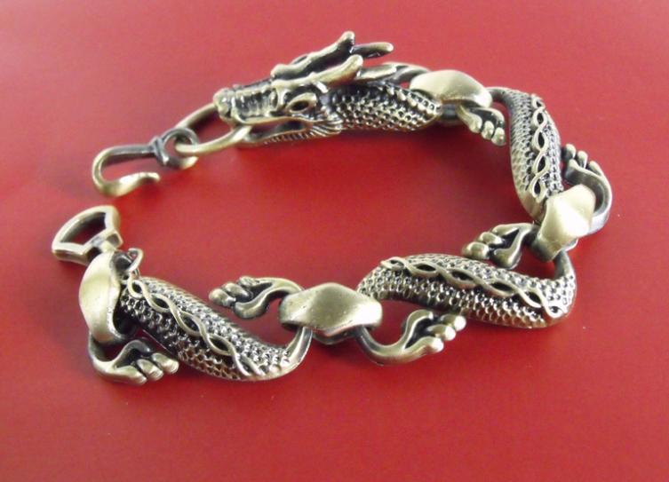 "Cool!! 1 pc Chinese Dragon Men's Belt Buckles wrist cuff Link Bracelet 7.5""(China (Mainland))"