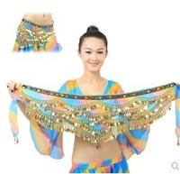 Hot sale 2014 Dance India dance belt belly dance new waist chain encryption add gradient waist chain Y80
