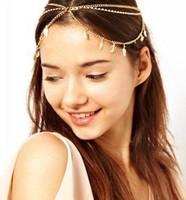 Bohemian Tassel Women's Circle Drop Head Chain Jewelry Forehead Dance Headpiece Hair Band