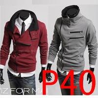 free shipping The new double zipper design more favors thickening fleece cardigan fleece