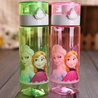 Frozen sports water bottle for children's student drink bottle frozen kids bicycle water bottle frozen